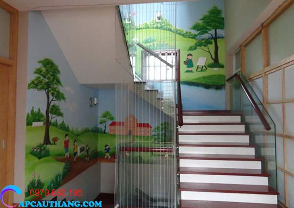 Lưới cầu thang trường mầm non